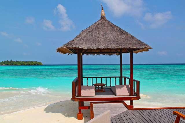 いい気分イメージングのリゾートビーチ